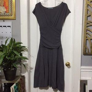 Velvet cotton dress drop waist size large (ee)